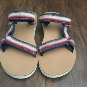 15763d838 Teva Shoes - Leather Bottom Teva Sandals